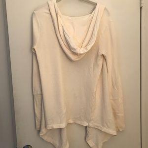 Splendid Sweaters - Splendid Ivory Draped Cardigan- Small